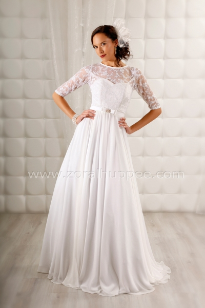 Robe de mariée 2017 , Robe Victoria vaporeuse no. 1 Zora L Huppée